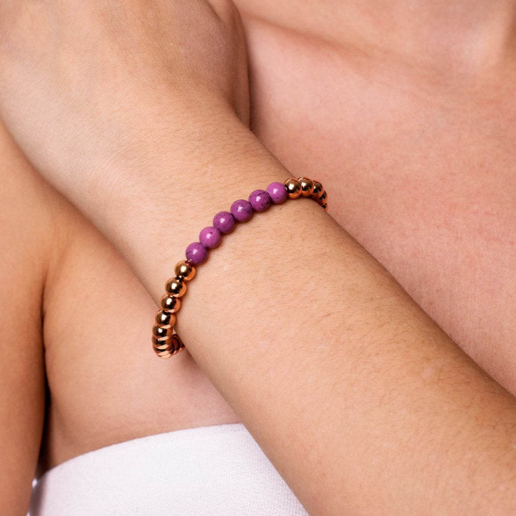 Blissful | 18k Rose Gold | Purple Turquoise | Expression Bracelet