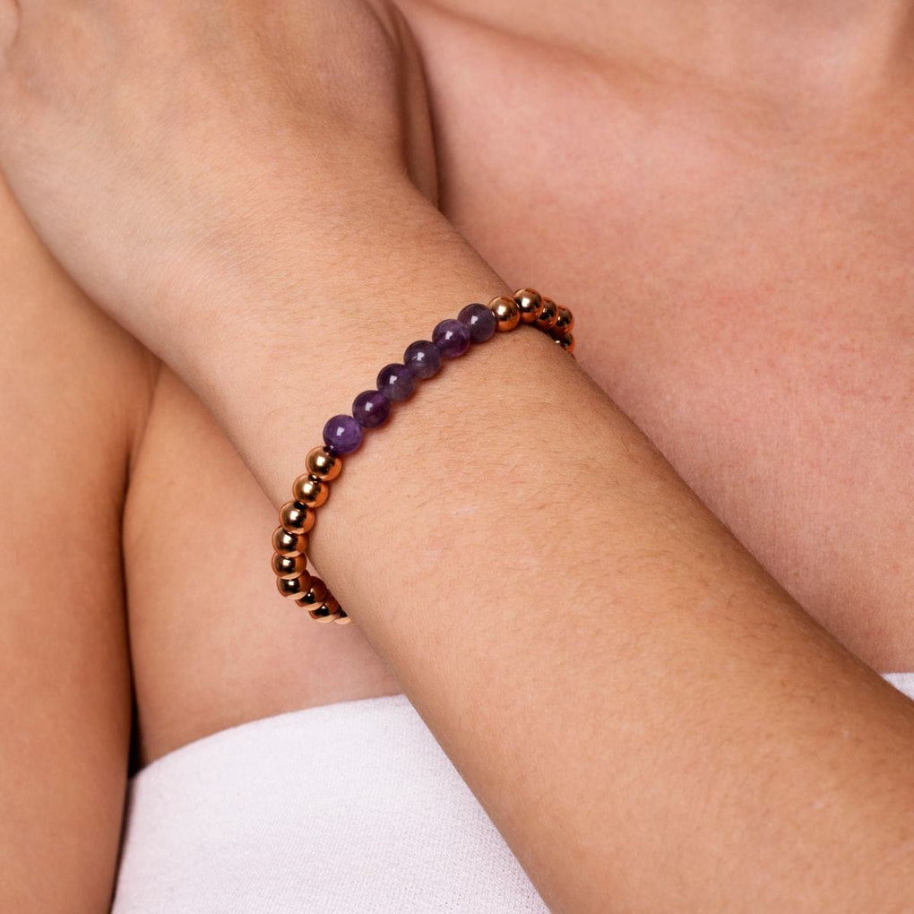 Admiration | 18k Rose Gold | Amethyst | Expression Bracelet