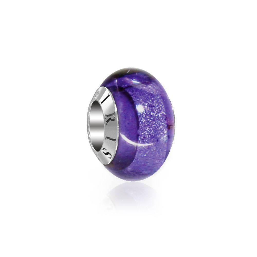 Daria - Purple Sparkle Murano Glass Bead from IRIS