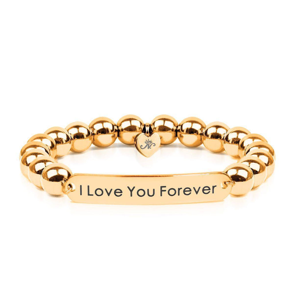 18k Gold | I Love You Forever | Kindred Spirits Beaded Bracelet