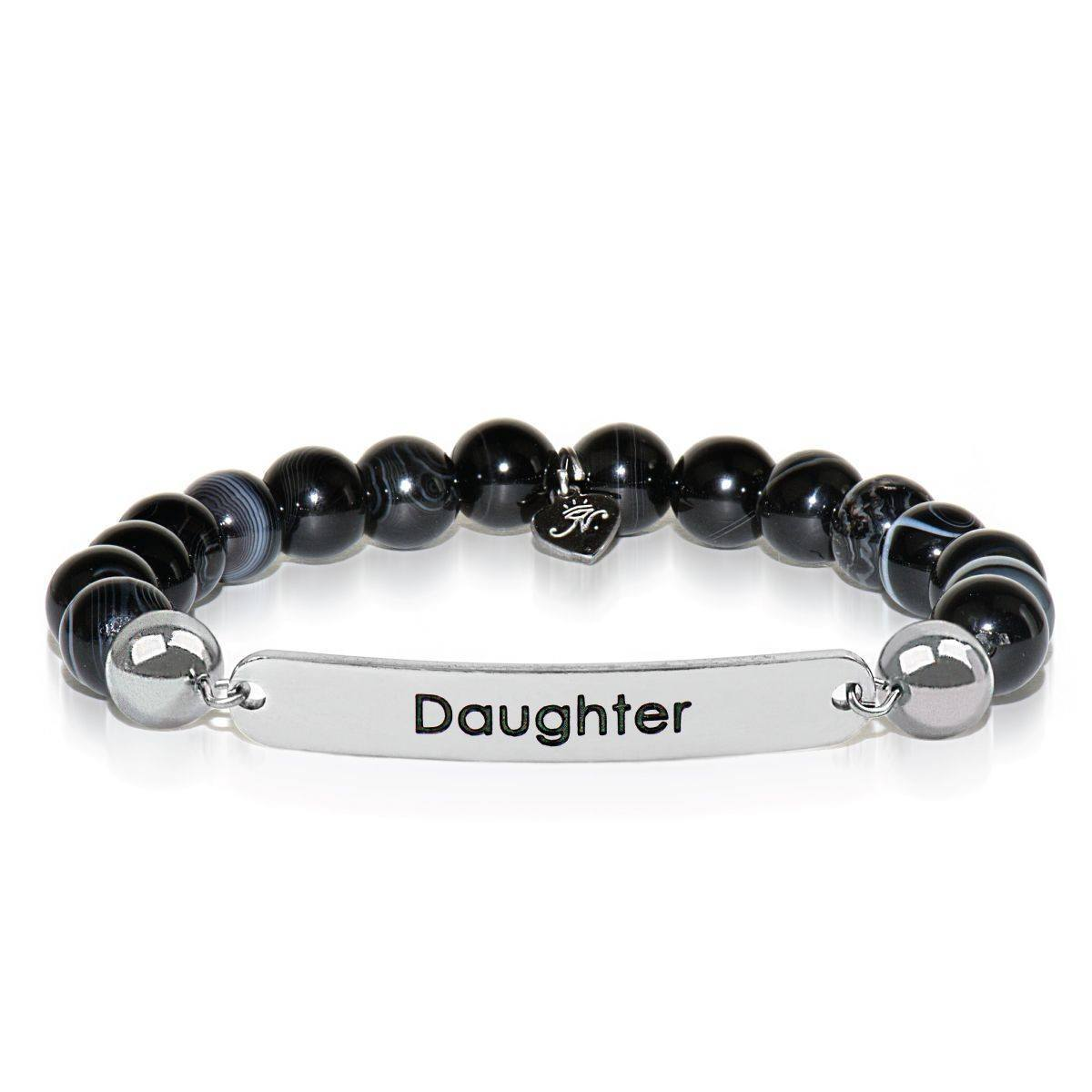 Black Line Agate | Daughter | Kindred Spirits Stone Bracelet