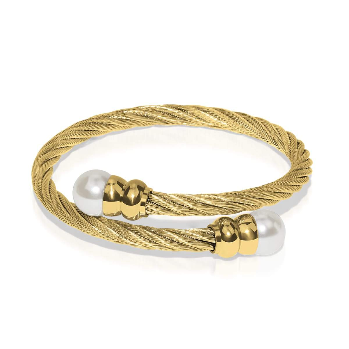 Calypso | 18k Gold | Pearl | Goddess Bangle