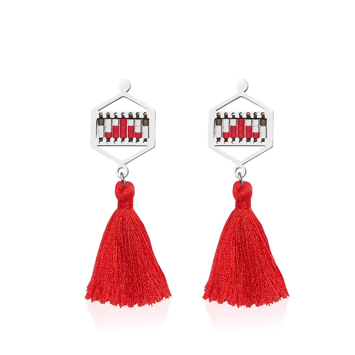 Palo Alto | Silver | Boho Fringe Earrings