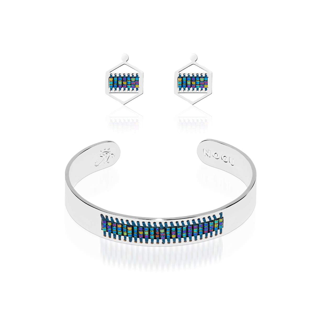 Manhattan Beach | Silver | Boho Bangle Earring Set