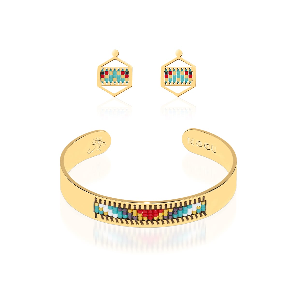 Palos Verdes Estates | 18k Gold | Boho Bangle Earring Set