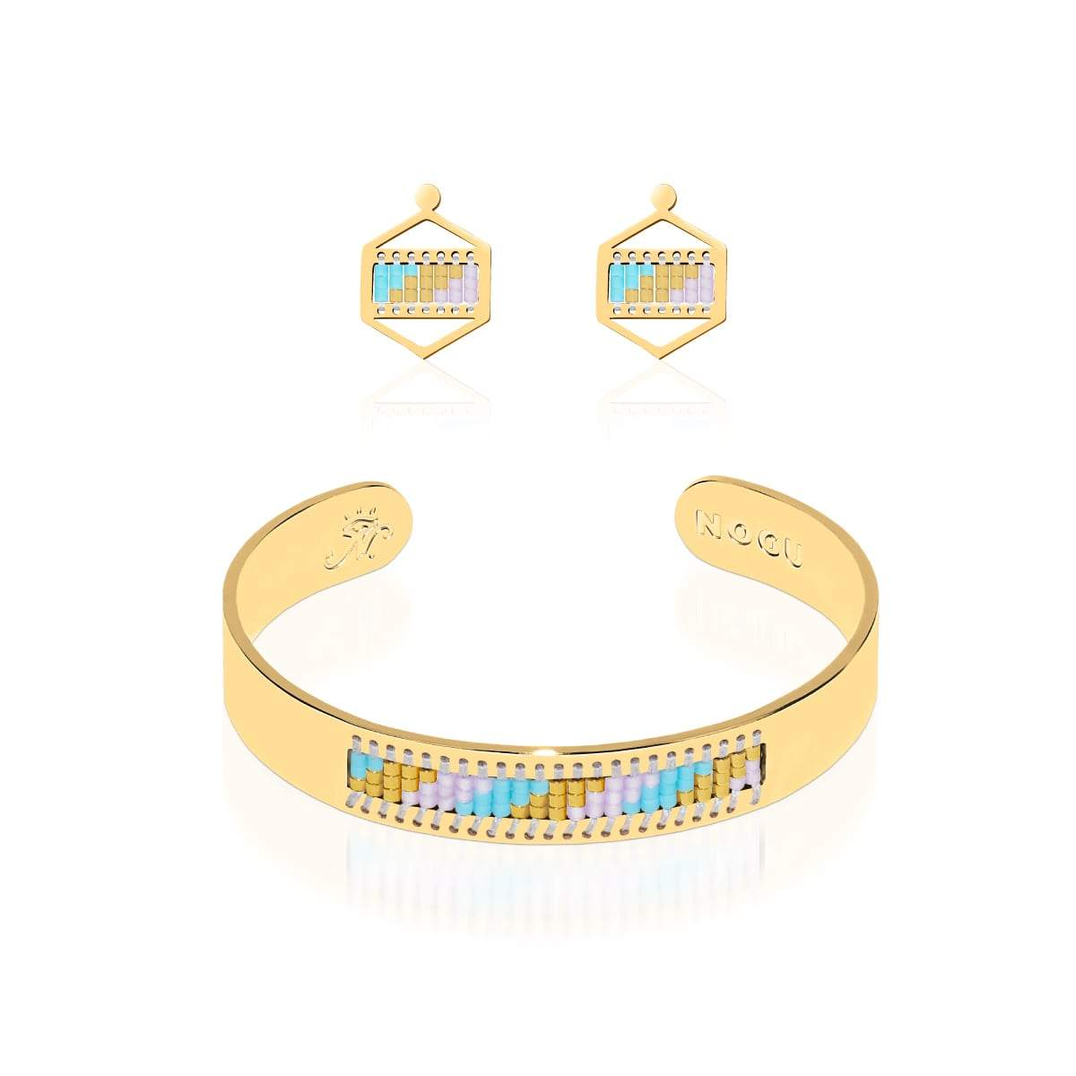 Laguna Niguel | 18k Gold | Boho Bangle Earring Set