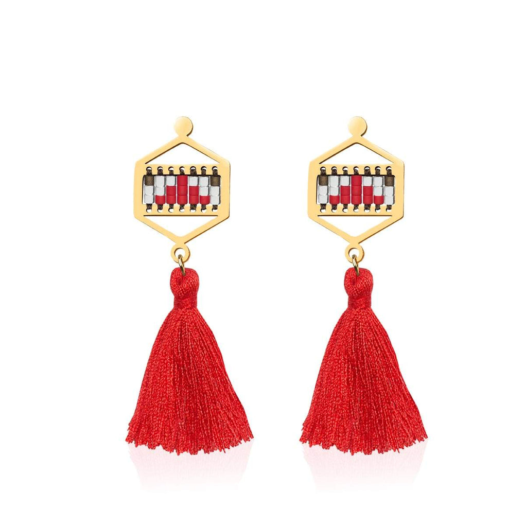 Palo Alto | 18k Gold | Boho Fringe Earrings