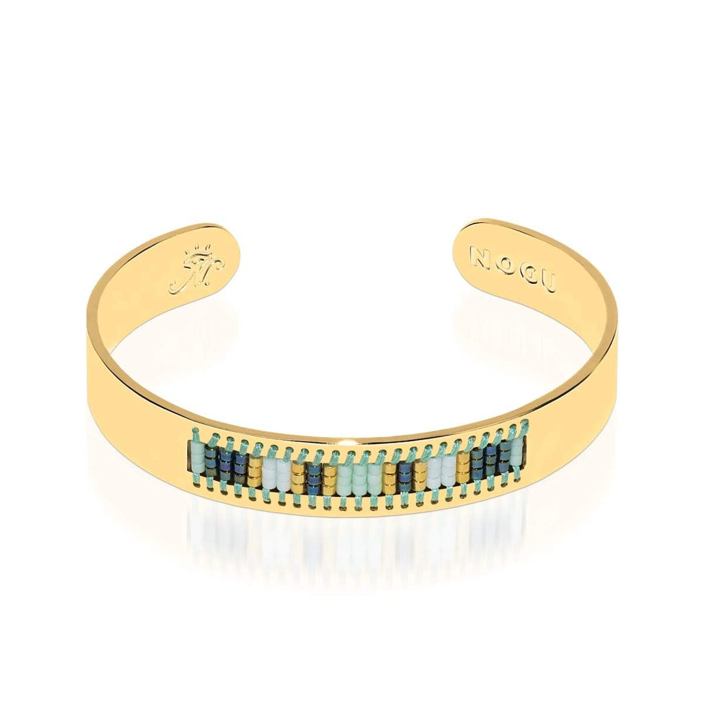 Hidden Hills | 18k Gold | Boho Bangle