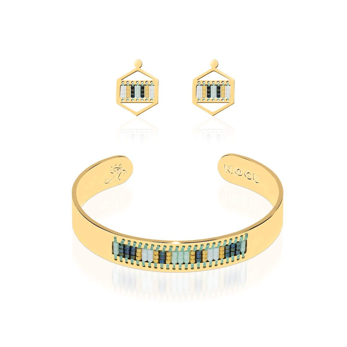 Hidden Hills | 18k Gold | Boho Bangle Earring Set