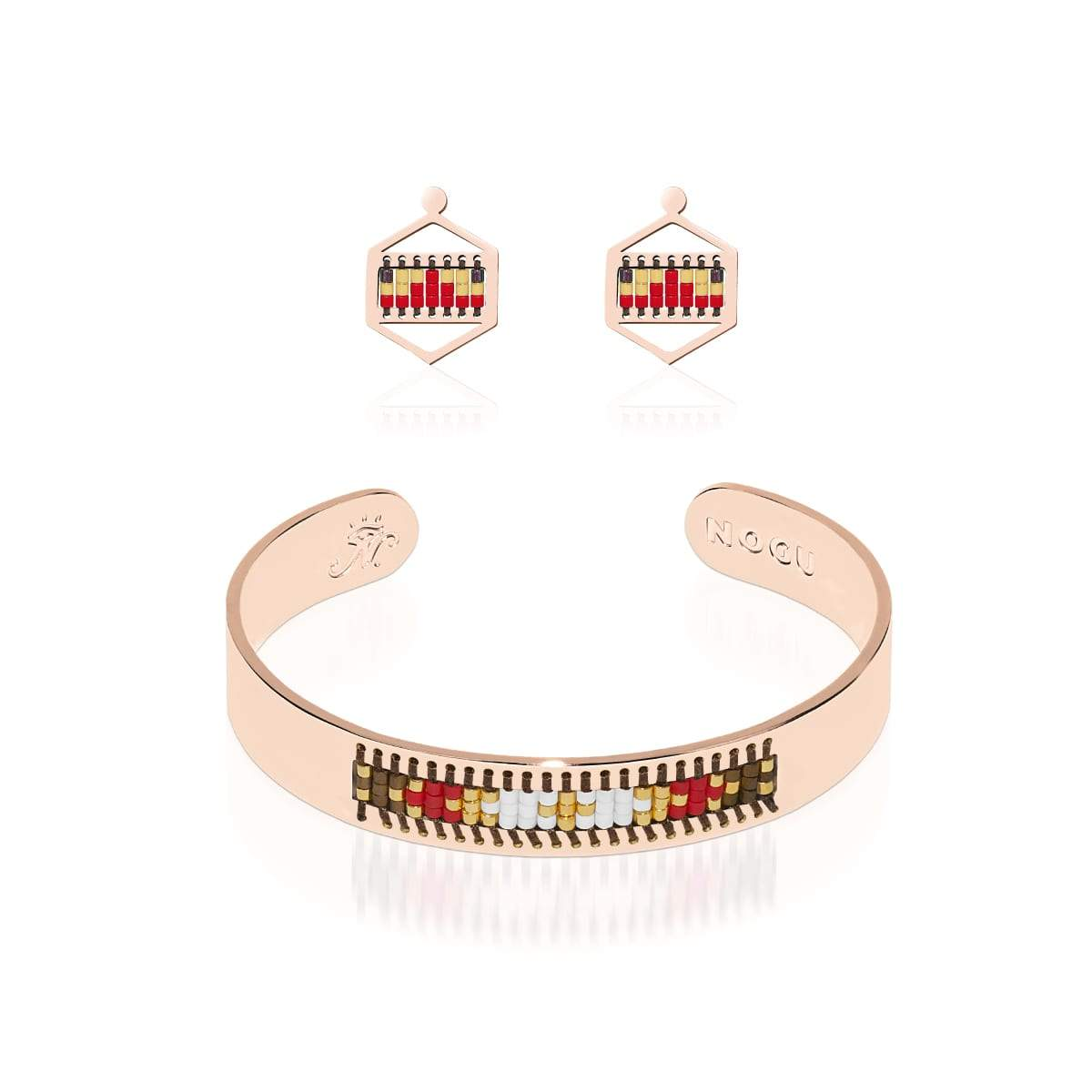 Palo Alto | 18k Rose Gold | Boho Bangle Earring Set