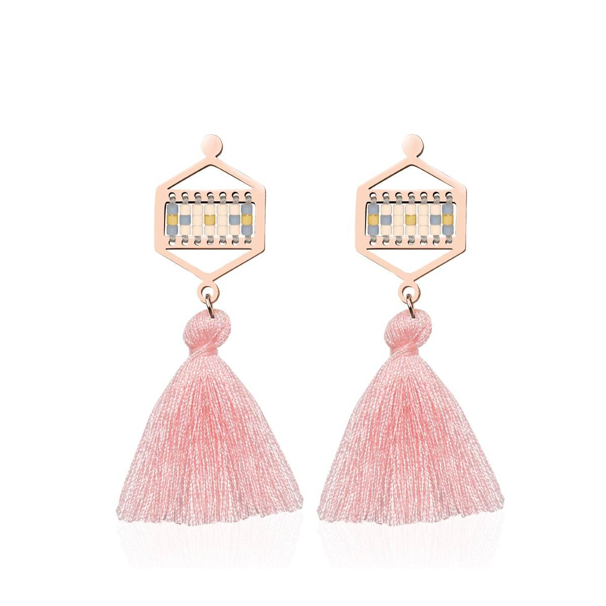 Monterey | 18k Rose Gold | Boho Fringe Earrings