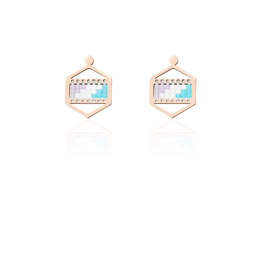 San Clemente | 18k Rose Gold | Boho Earrings