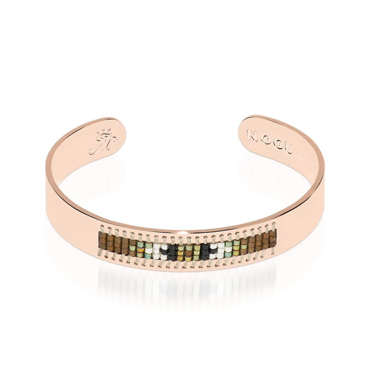 Rolling Hills | 18k Rose Gold | Boho Bangle