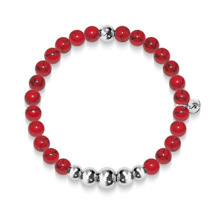 Tranquility | Silver Aura Red Turquoise Bracelet