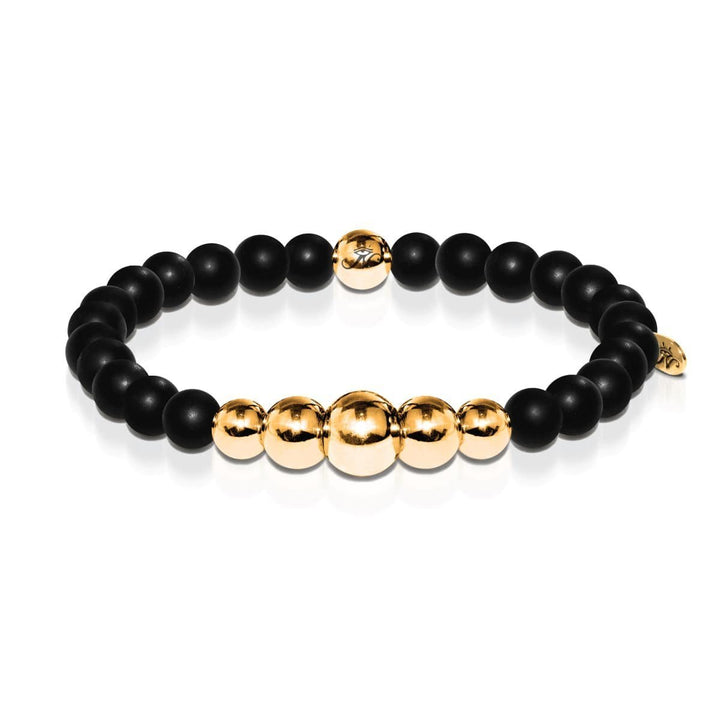 Transformation | Gold Aura Matte Black Bracelet