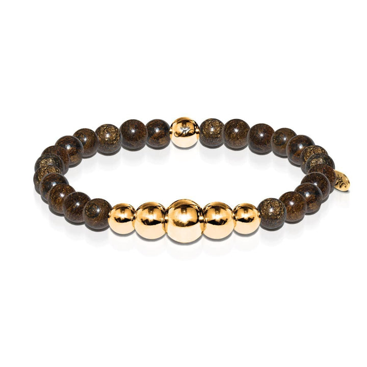 Rational | Gold Aura Bronzite Bracelet