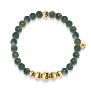 Growth | Gold Aura Canadian Jade Bracelet