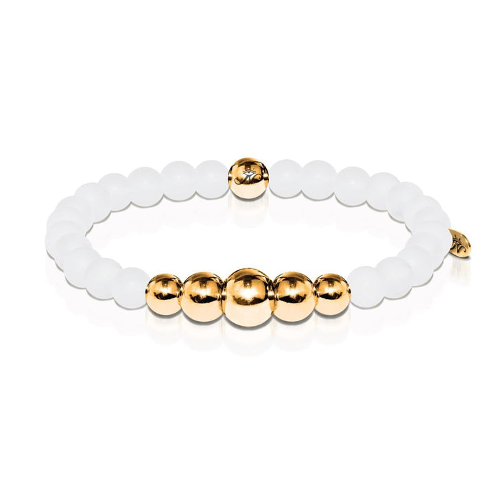 Purity | Gold Aura Matte White Bracelet