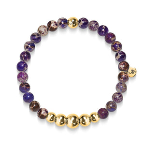 Imaginative | Gold Aura Purple Regarte Bracelet