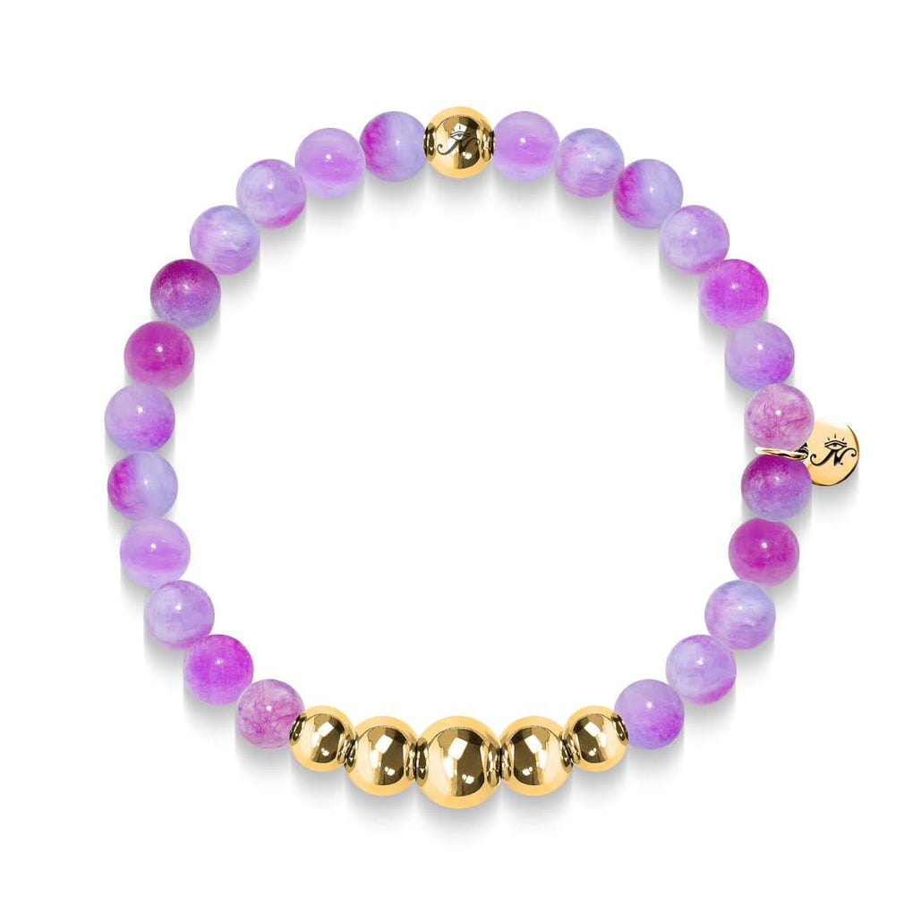 Loyalty | Gold Aura Multi Color Jade Bracelet