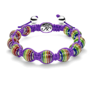 Purple Rainbow Bracelet
