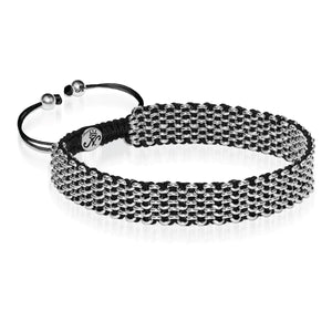 Silver Kismet Links Choker Necklace | Black Deluxe