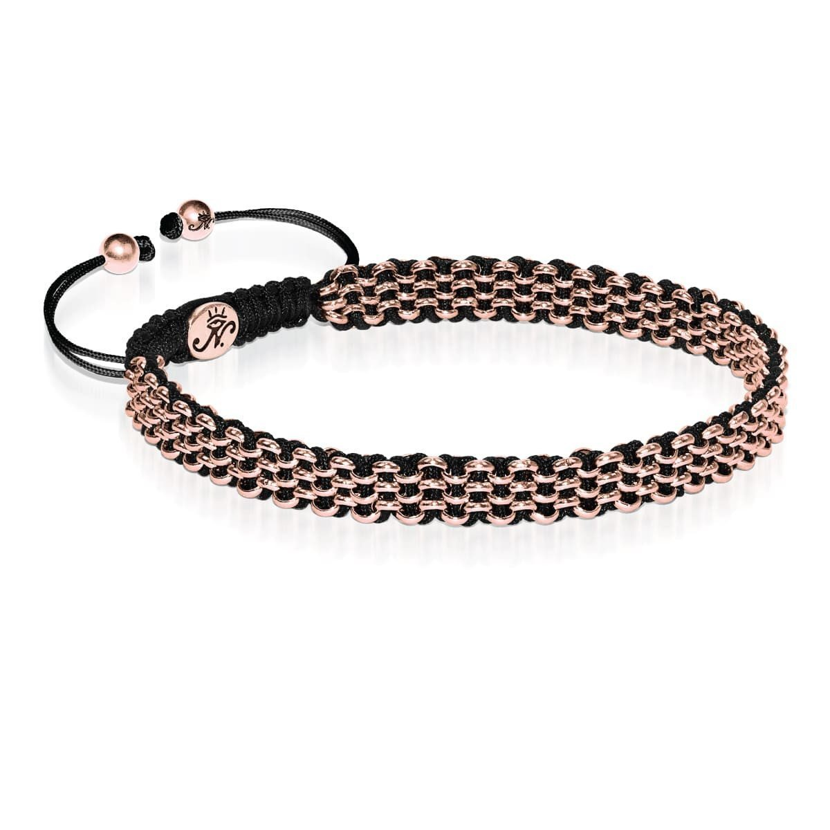 Rose Gold Kismet Links Choker Necklace | Black