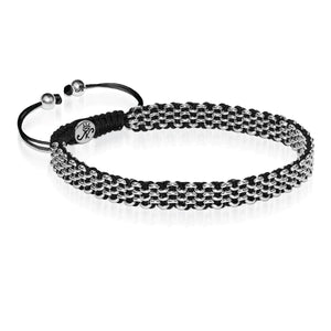 Silver Kismet Links Choker Necklace | Black
