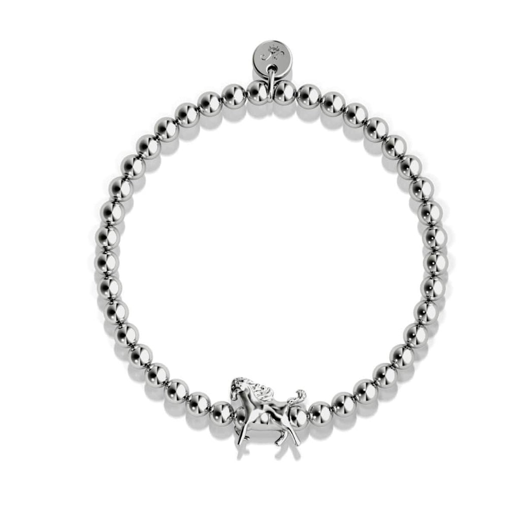 Equestrian | Silver | Horse Charm Bracelet