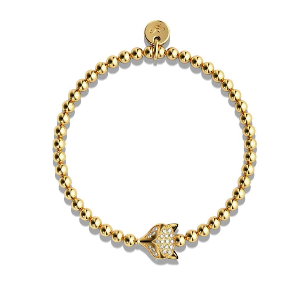 Vixen | 18k Gold | Crystal Fox Bracelet