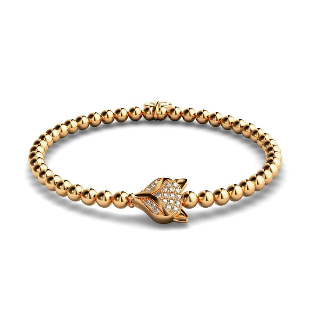 Vixen | 18k Rose Gold | Crystal Fox Bracelet