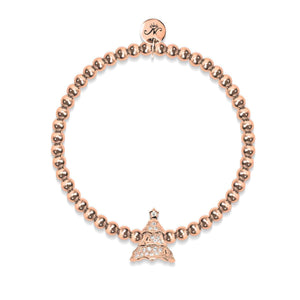 Evergreen | 18k Rose Gold | Crystal Holiday Tree
