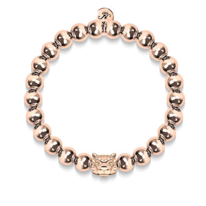 Men's | Leopard | 18k Rose Gold | Crystal Cat