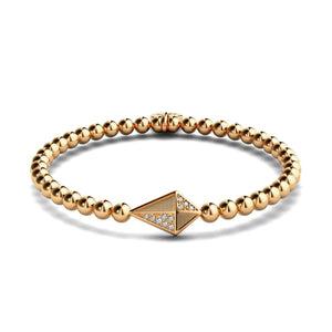 Kite | 18k Rose Gold | Crystal Charm Bracelet
