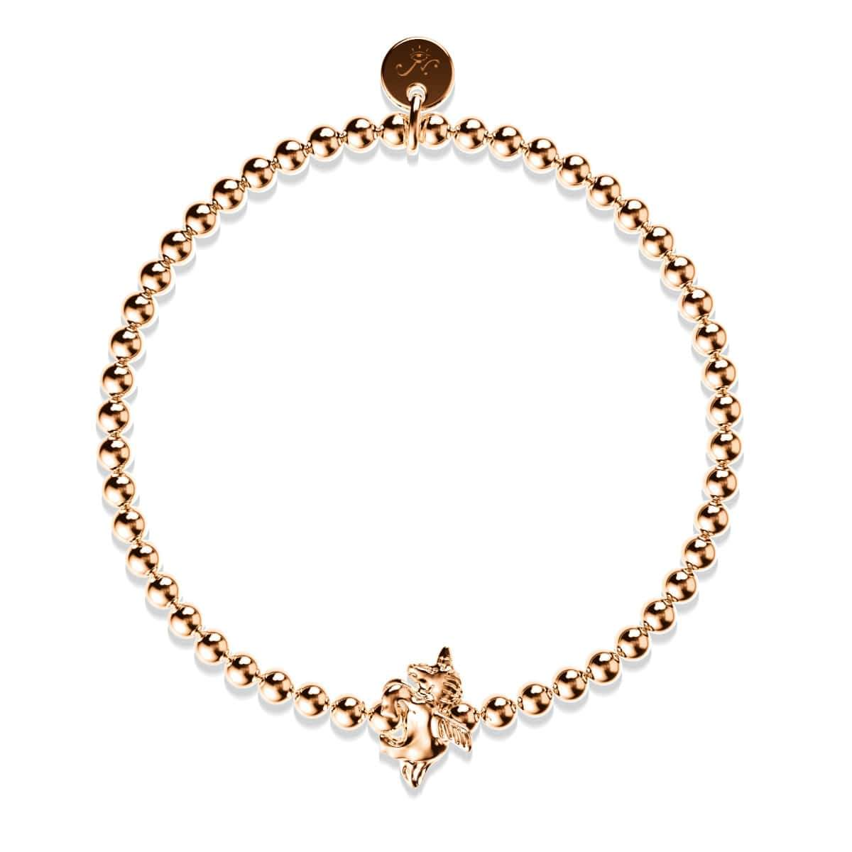 Pegasus | 18k Rose Gold | Winged Unicorn Charm Bracelet