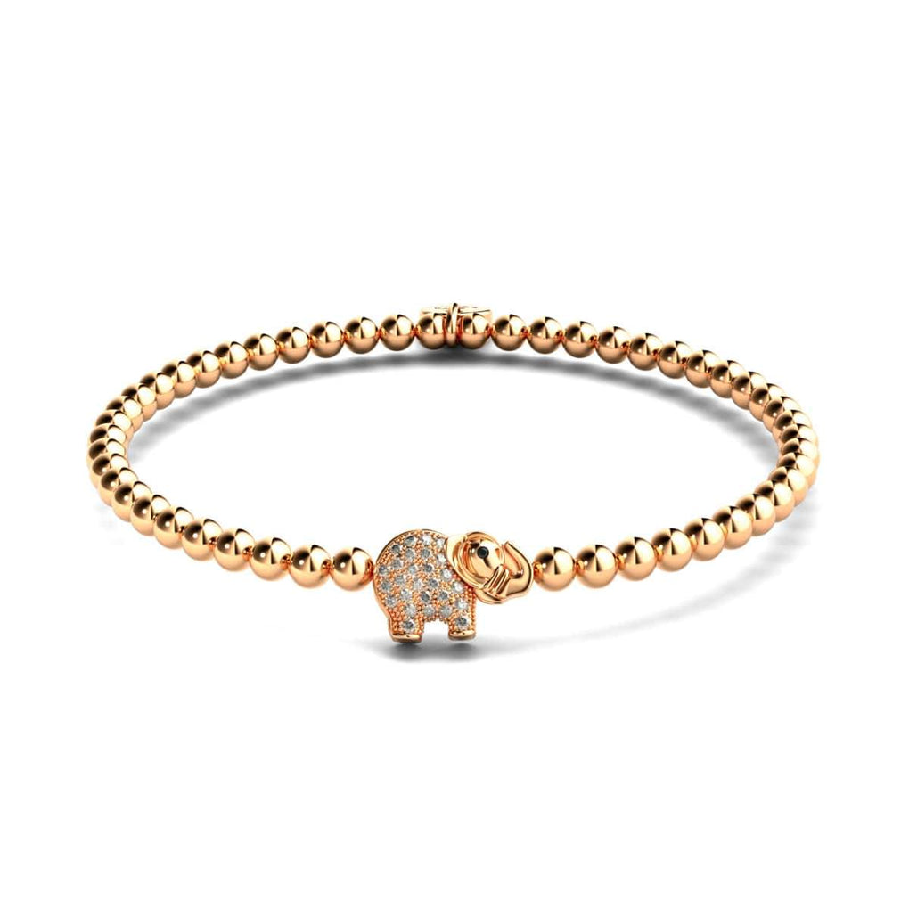 Sanctuary | 18k Rose Gold | Crystal Elephant Charm Bracelet