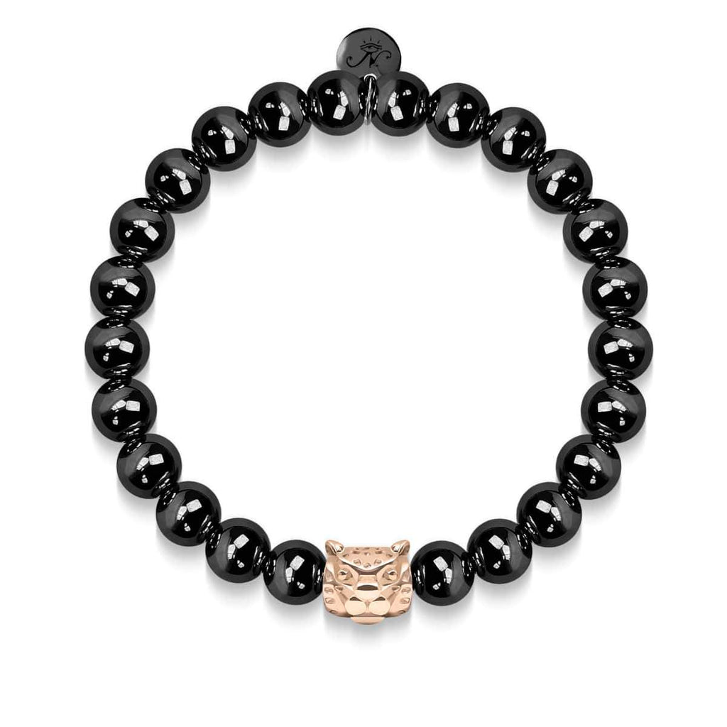 Leopard | Gunmetal & 18k Rose Gold | Crystal Cat