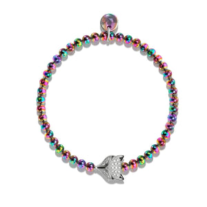 Vixen | Unicorn Steel | Crystal Fox Bracelet
