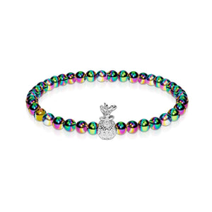 Pina Colada | Unicorn Steel | Crystal Pineapple Bracelet