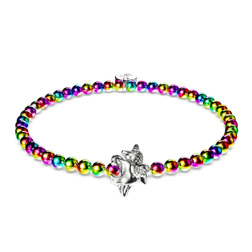 Pegasus | Unicorn Steel | Winged Unicorn Charm Bracelet