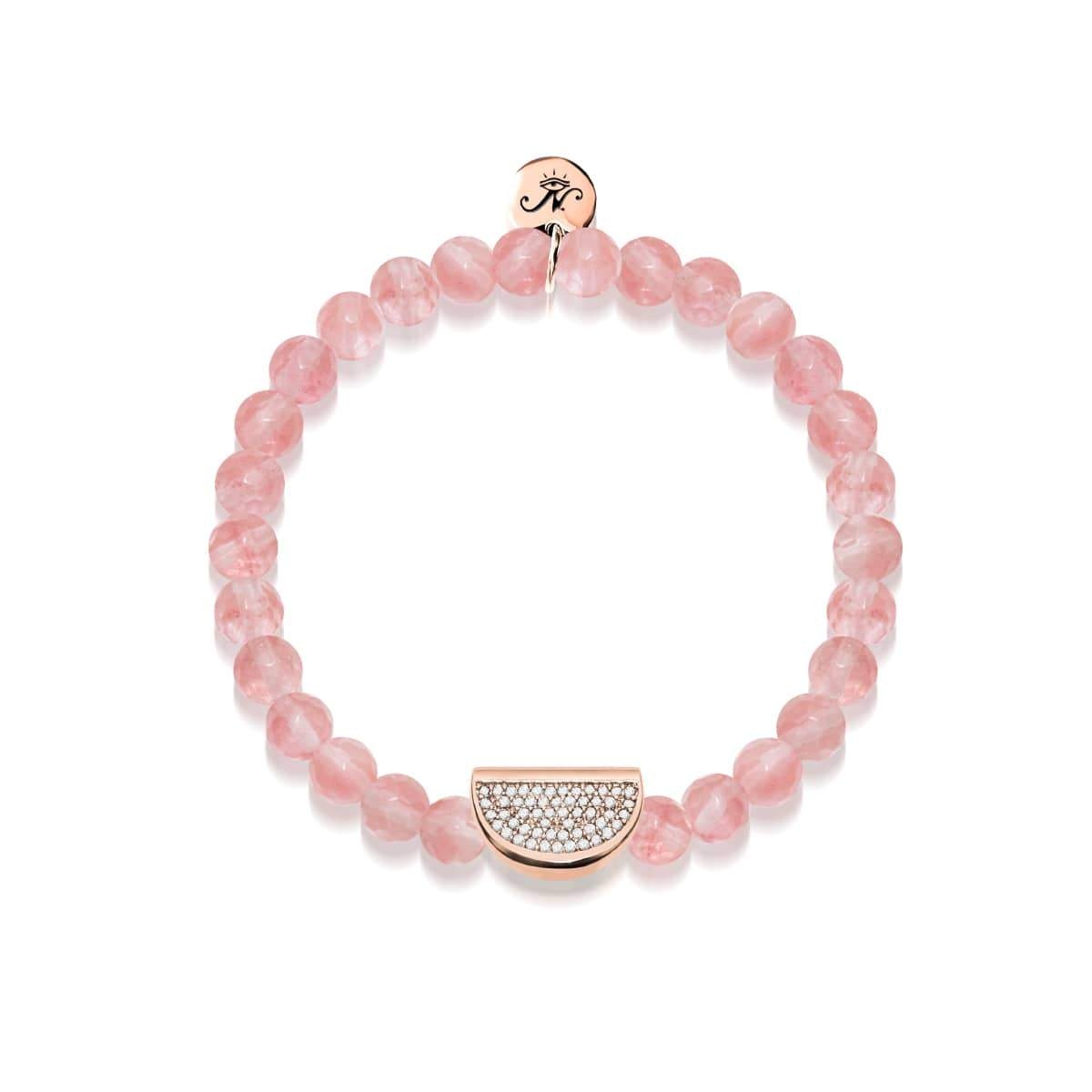 Juicy | 18k Rose Gold & Pink Apyrite | Crystal Melon