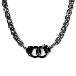 Gunmetal Steel | Chain Cuff Necklace
