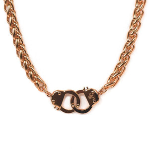 18k Rose Gold | Chain Cuff Bracelet & Necklace Gift Set