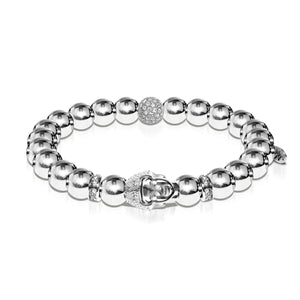 Enlightenment | White Gold | Buddha Bracelet