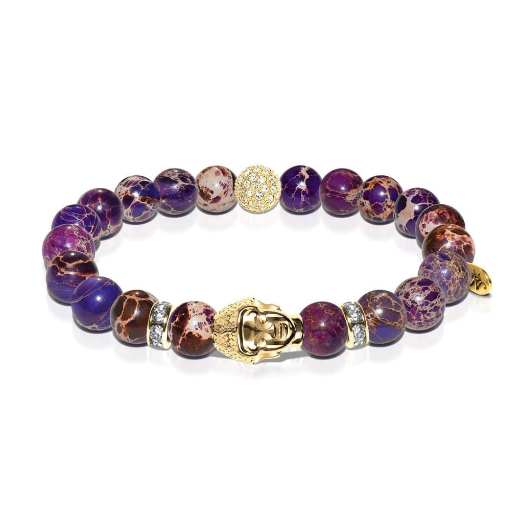 Inner Child | Gold Buddha | Purple Regarte Bracelet
