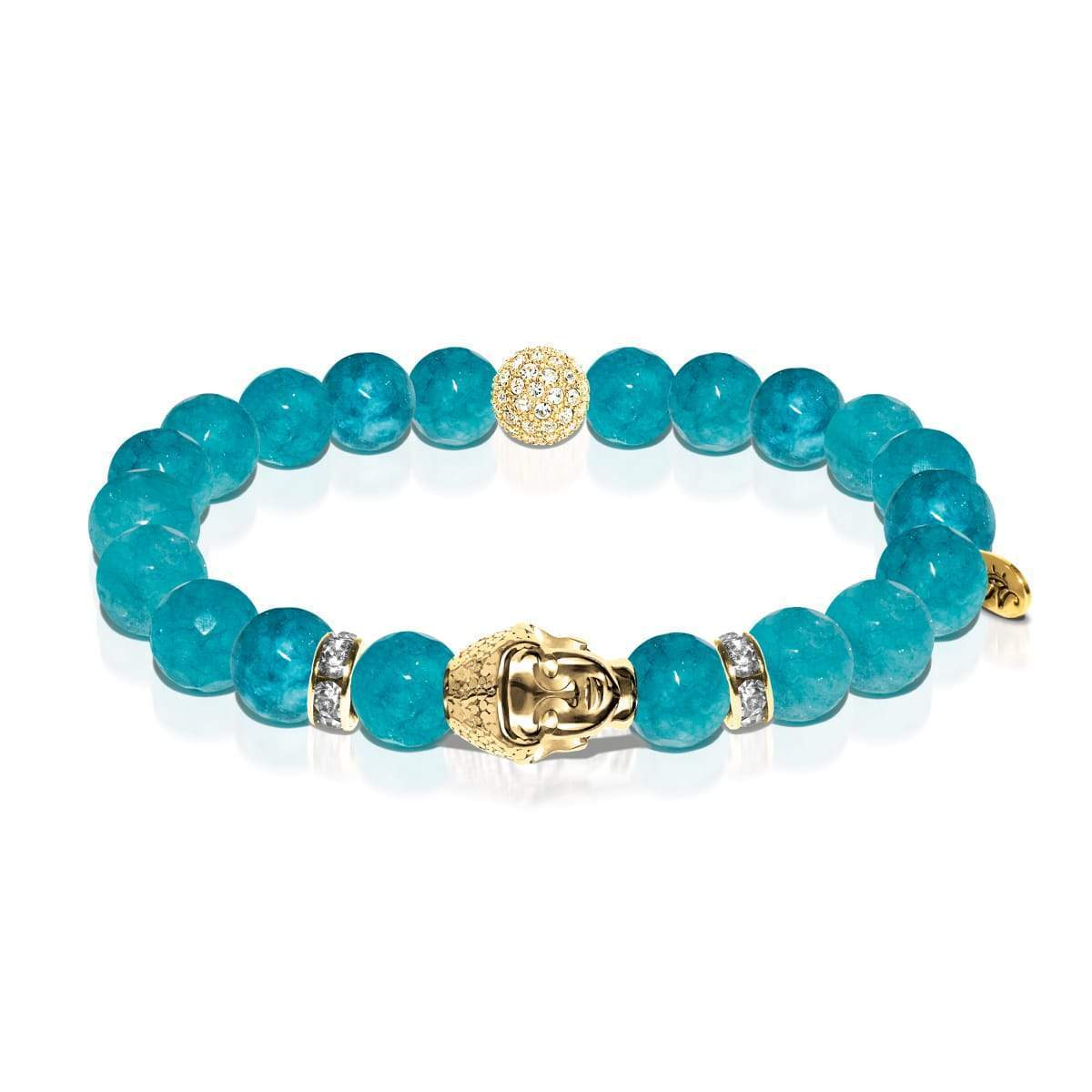 Path of Joy | Gold Buddha | Amazon Jade Bracelet