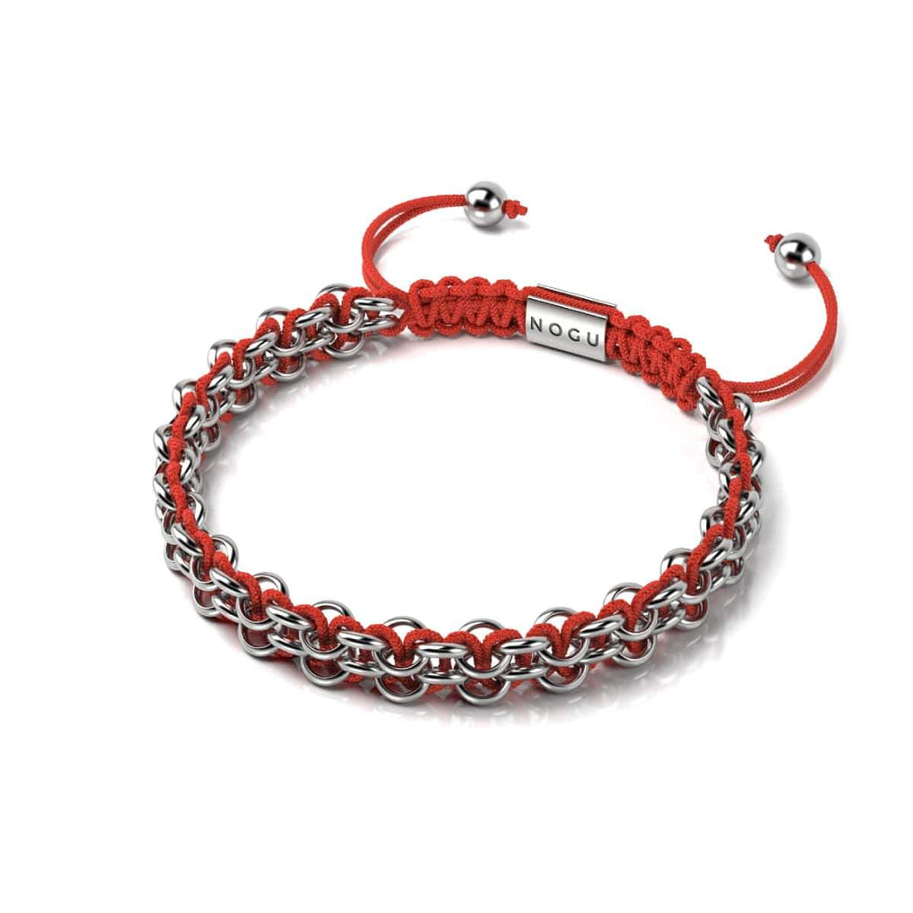 Kismet Links | Cause Bracelet | Silver | Red