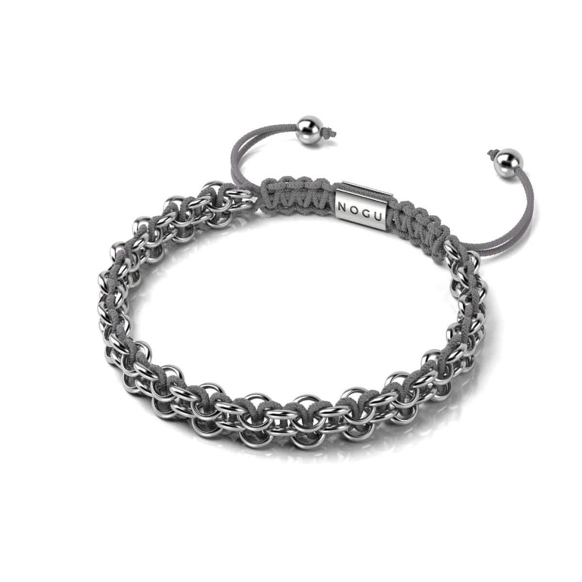 Kismet Links | Cause Bracelet | Silver | Grey