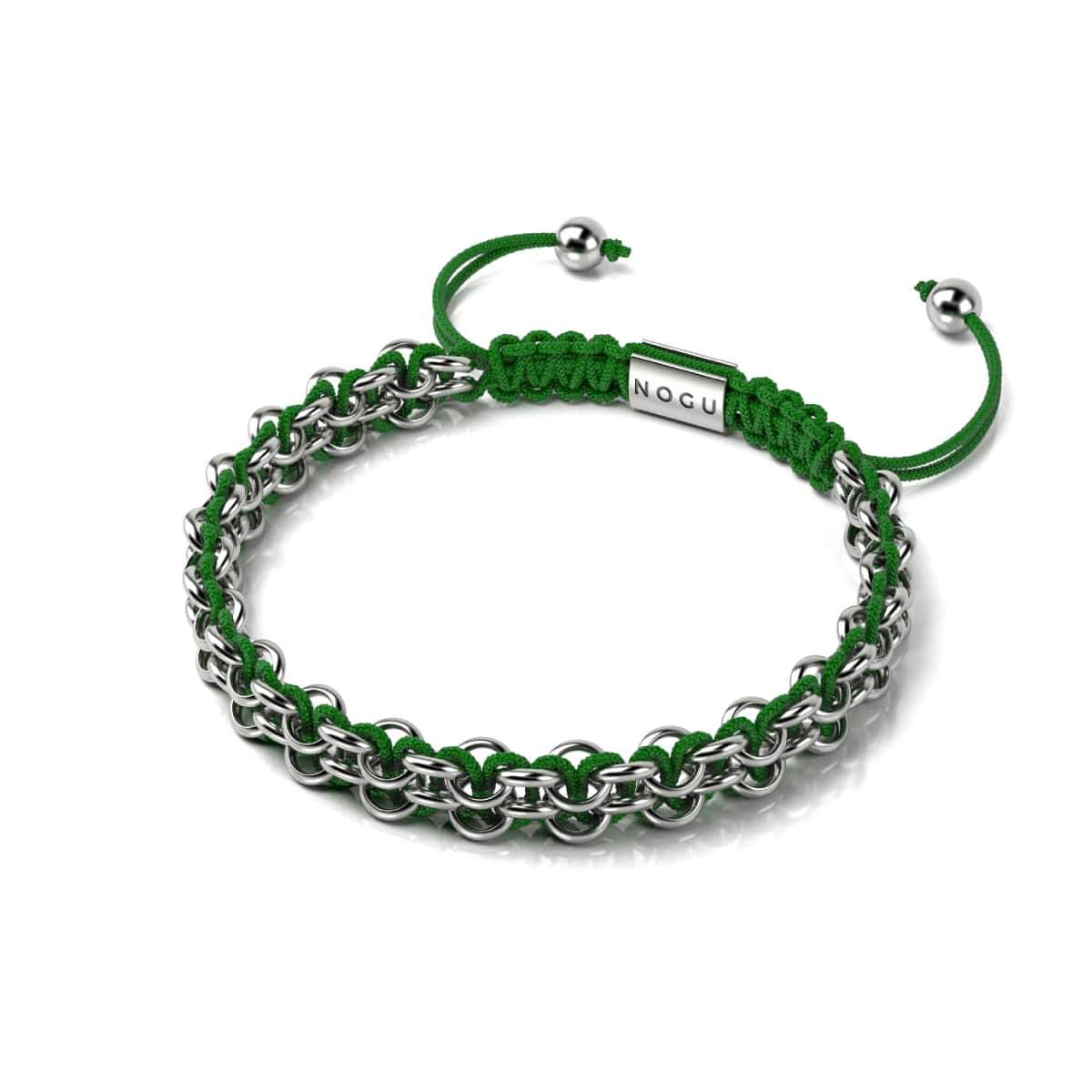 Kismet Links | Cause Bracelet | Silver | Green