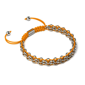 Kismet Links | Cause Bracelet | Silver | Orange
